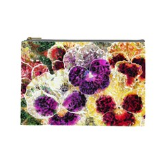 Background Flowers Cosmetic Bag (large)