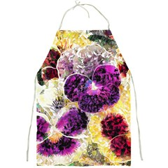 Background Flowers Full Print Aprons