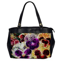 Background Flowers Office Handbags