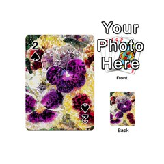 Background Flowers Playing Cards 54 (mini)