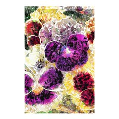Background Flowers Shower Curtain 48  X 72  (small)