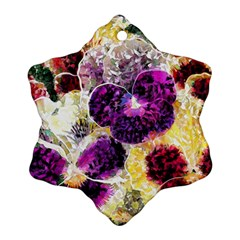 Background Flowers Ornament (snowflake)