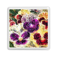 Background Flowers Memory Card Reader (square)