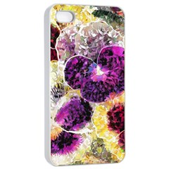 Background Flowers Apple Iphone 4/4s Seamless Case (white)