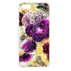Background Flowers Apple Iphone 5 Seamless Case (white)