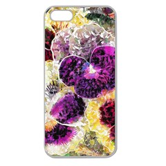 Background Flowers Apple Seamless Iphone 5 Case (clear)