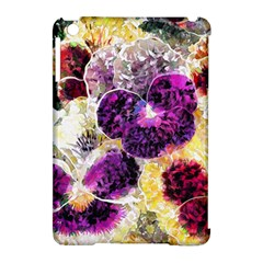 Background Flowers Apple Ipad Mini Hardshell Case (compatible With Smart Cover)