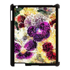 Background Flowers Apple Ipad 3/4 Case (black)
