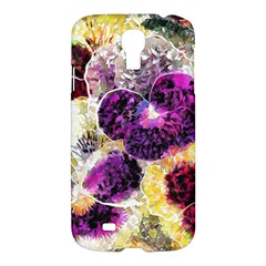 Background Flowers Samsung Galaxy S4 I9500/i9505 Hardshell Case