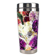 Background Flowers Stainless Steel Travel Tumblers