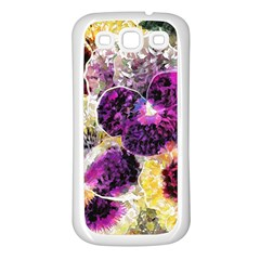 Background Flowers Samsung Galaxy S3 Back Case (white)