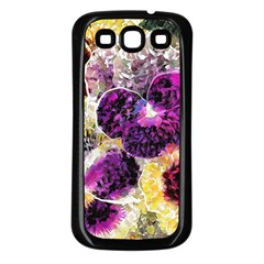 Background Flowers Samsung Galaxy S3 Back Case (black)