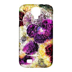 Background Flowers Samsung Galaxy S4 Classic Hardshell Case (pc+silicone)
