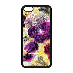 Background Flowers Apple Iphone 5c Seamless Case (black)