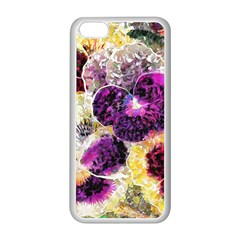 Background Flowers Apple Iphone 5c Seamless Case (white)