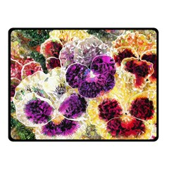 Background Flowers Double Sided Fleece Blanket (small)