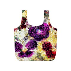 Background Flowers Full Print Recycle Bags (s)