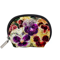 Background Flowers Accessory Pouches (small)