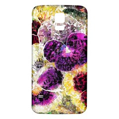 Background Flowers Samsung Galaxy S5 Back Case (white)