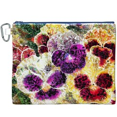 Background Flowers Canvas Cosmetic Bag (xxxl)