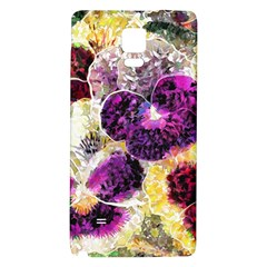 Background Flowers Galaxy Note 4 Back Case