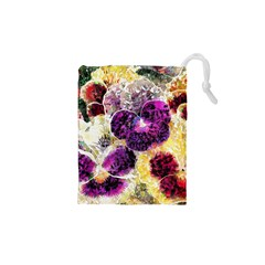 Background Flowers Drawstring Pouches (xs)
