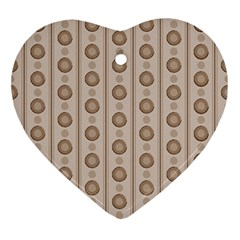 Background Rough Stripes Brown Tan Ornament (heart)
