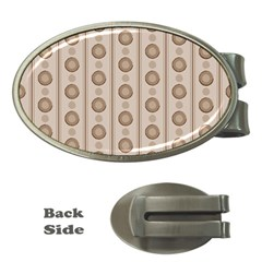 Background Rough Stripes Brown Tan Money Clips (oval)