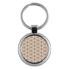 Background Rough Stripes Brown Tan Key Chains (Round)