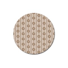 Background Rough Stripes Brown Tan Magnet 3  (round)