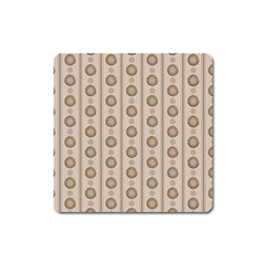 Background Rough Stripes Brown Tan Square Magnet