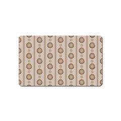 Background Rough Stripes Brown Tan Magnet (name Card)