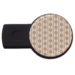Background Rough Stripes Brown Tan Usb Flash Drive Round (2 Gb)