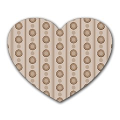 Background Rough Stripes Brown Tan Heart Mousepads