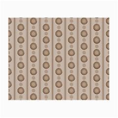 Background Rough Stripes Brown Tan Small Glasses Cloth (2 Side)