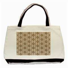 Background Rough Stripes Brown Tan Basic Tote Bag (two Sides)