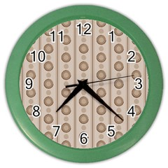 Background Rough Stripes Brown Tan Color Wall Clocks