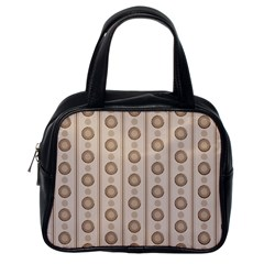 Background Rough Stripes Brown Tan Classic Handbags (one Side)