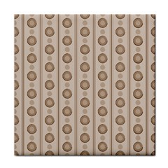 Background Rough Stripes Brown Tan Face Towel