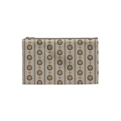 Background Rough Stripes Brown Tan Cosmetic Bag (small)