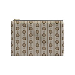 Background Rough Stripes Brown Tan Cosmetic Bag (medium)