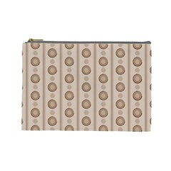Background Rough Stripes Brown Tan Cosmetic Bag (large)