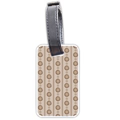 Background Rough Stripes Brown Tan Luggage Tags (one Side)