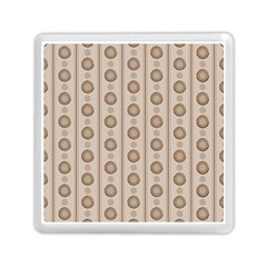 Background Rough Stripes Brown Tan Memory Card Reader (square)