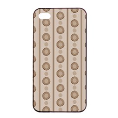 Background Rough Stripes Brown Tan Apple Iphone 4/4s Seamless Case (black)
