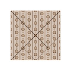 Background Rough Stripes Brown Tan Acrylic Tangram Puzzle (4  X 4 )