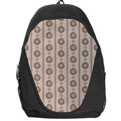 Background Rough Stripes Brown Tan Backpack Bag