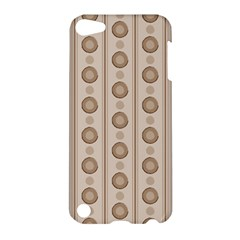 Background Rough Stripes Brown Tan Apple Ipod Touch 5 Hardshell Case