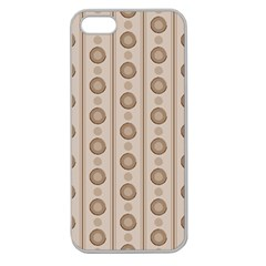 Background Rough Stripes Brown Tan Apple Seamless Iphone 5 Case (clear)