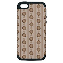 Background Rough Stripes Brown Tan Apple Iphone 5 Hardshell Case (pc+silicone)